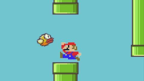 Rumores afirman que Flappy Bird ha sido retirado por una denuncia de Nintendo, basada en el diseño del juego. Las tuberías y el estilo gráfico están plagiados de los juegos de Mario.
