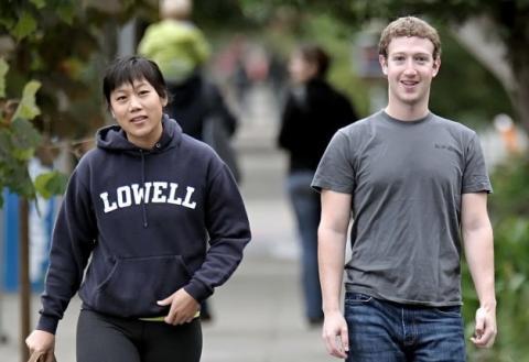 Mark Zuckerberg y Priscilla Chan, Facebook, donación de acciones