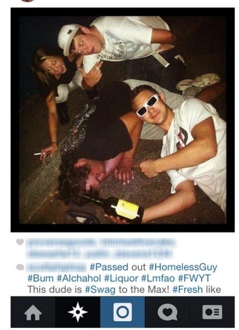 Selfies con Personas sin Hogar