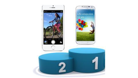 samsung  supera en ventas de smartphones apple