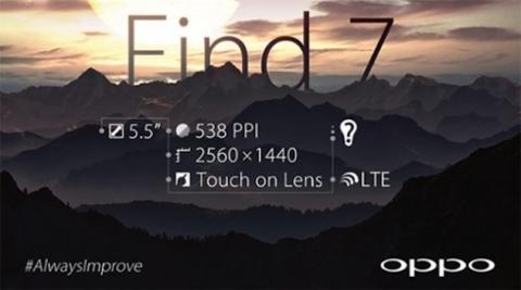 Oppo Find 7 llega en Marzo con pantalla 2K y conectividad 4G