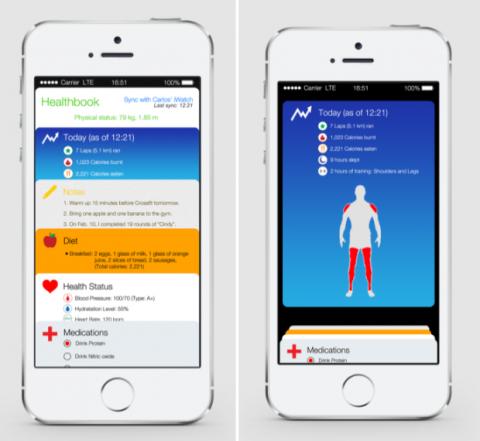 Healthbook Apple imagen concepto