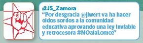 Twitter Juventudes Socialistas Zamora