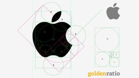 ¿Está diseñado el logo de Apple usando la Sucesión de Fibonacci?