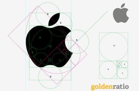 Logo de Apple y Sucesión de Fibonacci