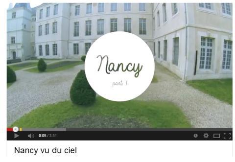 Nancy grabar con dron