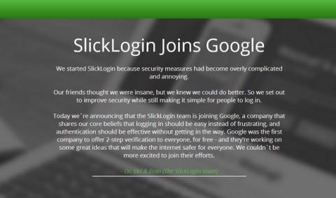 Google compra SlickLogin