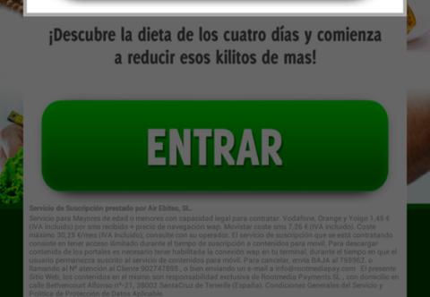 Letra pequeña aplicación maliciosa