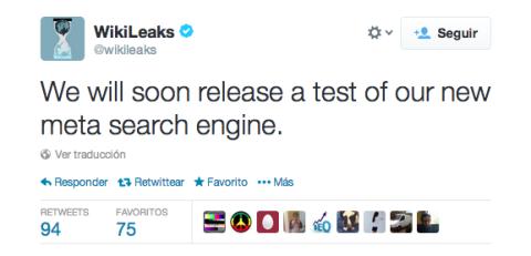 WikiLeaks motor de búsqueda