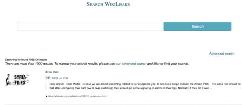 WikiLeaks buscador