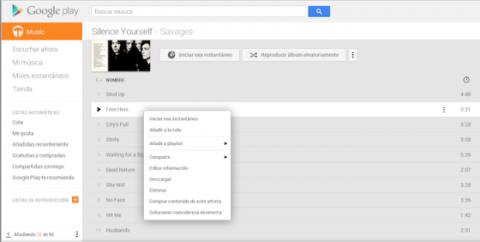 Descargar canción Google Play Music