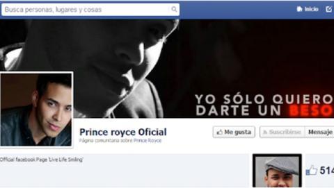 El popular cantante Prince Royce, suplantado en Facebook