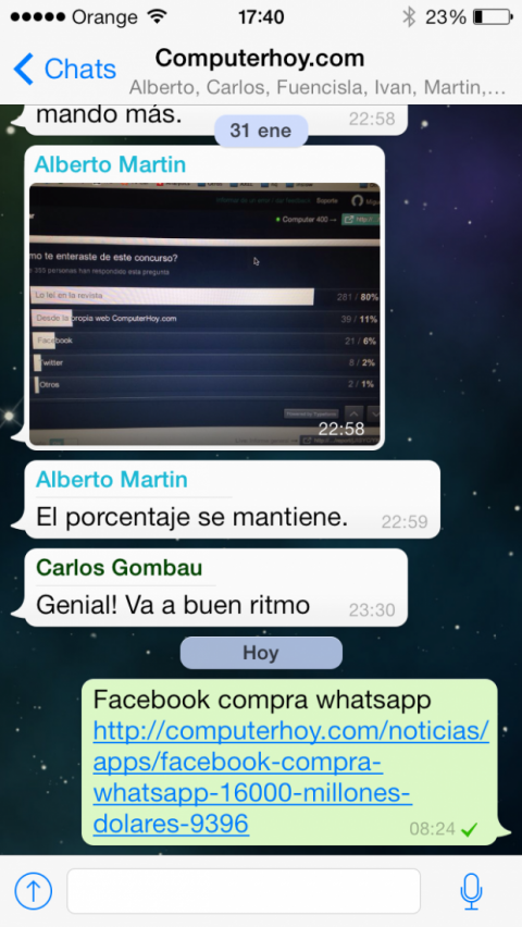 WhatsApp comprado por Facebook