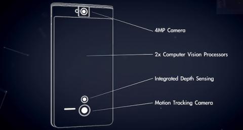 Cámaras y sensores prototipo Proyecto Tango