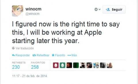 Apple contrata al hacker winocm