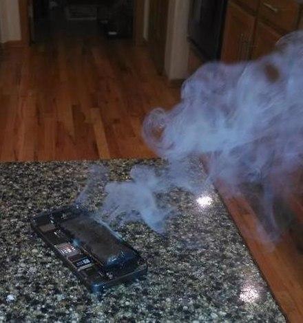 iPhone 5S ardiendo