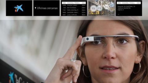 La Caixa presenta su app para Google Glass y el reloj inteligente Sony SmartWatch 2.