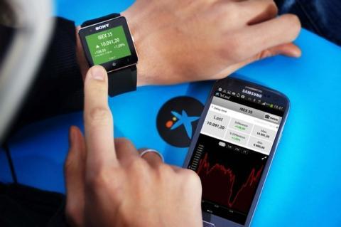 App de La Caixa para el reloj inteligente Sony SmartWatch 2