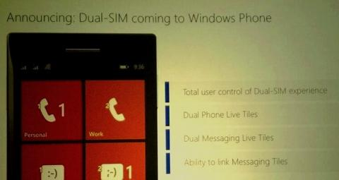 Dual SIM Windows Phone
