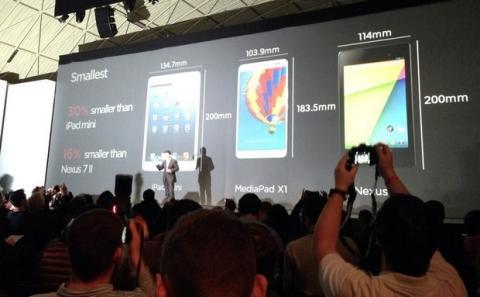 Huawei MediaPad X1 en el MWC