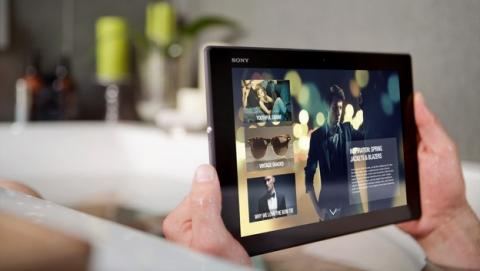 Sony presenta la Sony Xperia Z2 tablet en el Mobile World Congress de Barcelona