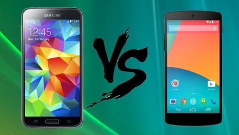 Samsung Galaxy S5 vs Nexus 5 Comparativa