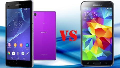Samsung Galaxy S5 contra Xperia Z2. ¿Qué móvill es mejor?