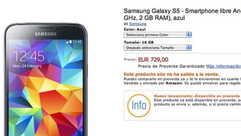 Desvelado precio de Samsung Galaxy S5: ya en preventa