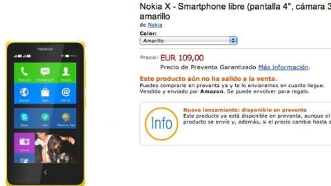 Nokia X, X+ y Xl en preventa en Amazon