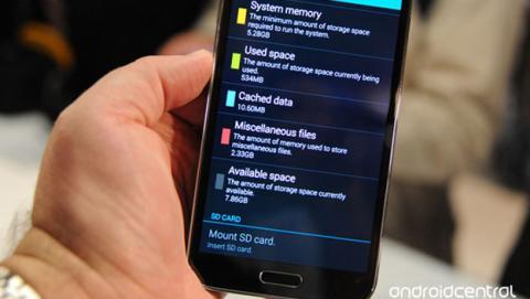 Samsung Galaxy S5 tendrá menos de 8GB para el usuario