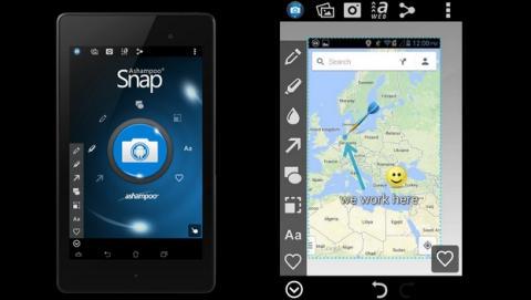 Ashampoo Snap for Android, captura, edita y comparte cualquier pantalla o foto de tu móvil o tablet