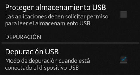 Activa la depuración USB de tu Android