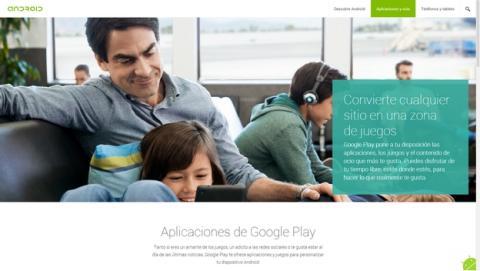 La web oficial android.com, ya disponible en español