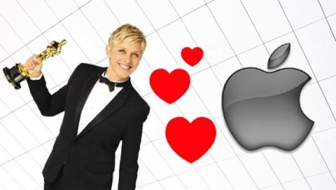 Ellen DeGeneres traiciona a Samsung en la gala de los Oscar