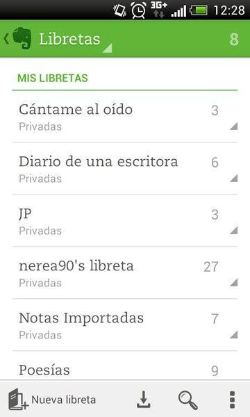 Libretas Evernote