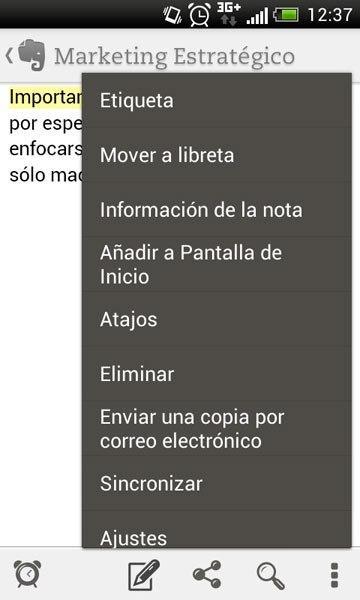 Mover a libreta Evernote