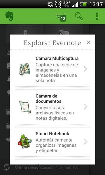 Explorar Evernote