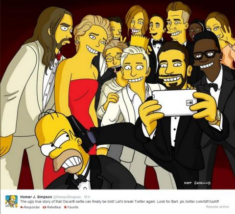 Selfie de Los Oscar Bart Simpson