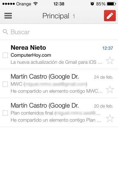 Actualización Gmail iOS 7