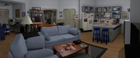 Modelo 3D apartamento de Seinfeld