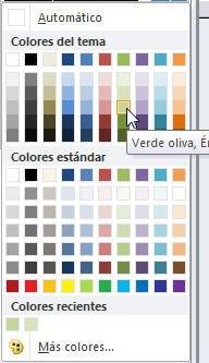 Elegir color