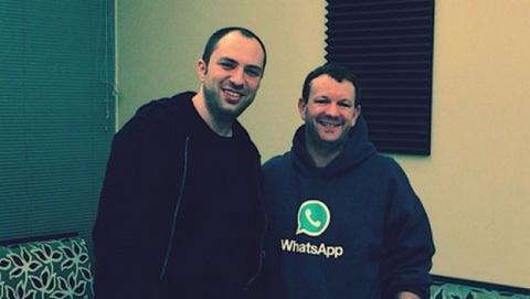 Jan Koum y Brian Acton, fundadores de WhatsApp y multimillonarios