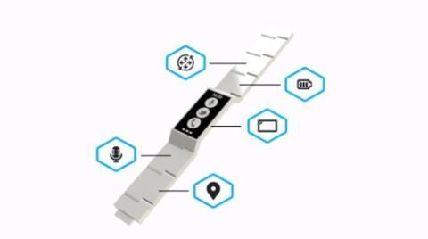 Cada vínculo de la pulsera es una pieza de hardware