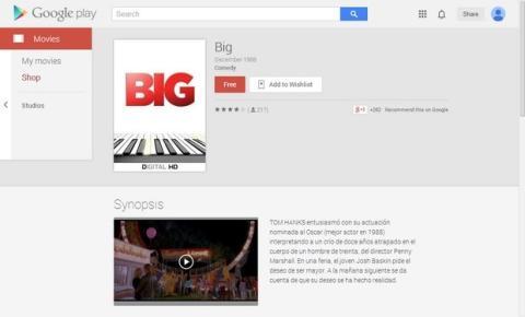 Big, gratis en Google Play