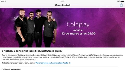 Vueve iTunes Festival 2014, conciertos y música gratis en tu iPhone y iPad