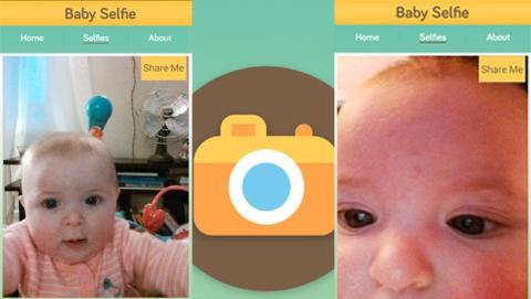 Los bebés también se apuntan a la nueva moda de los selfies