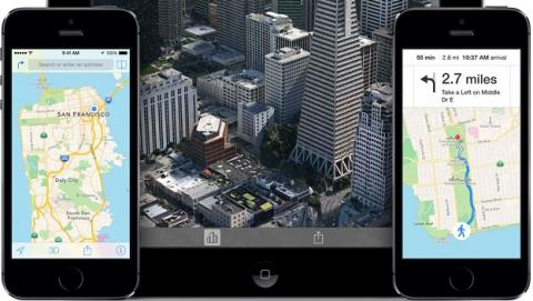 Apple Mapas para iOS 8