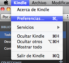 Preferencias Kindle