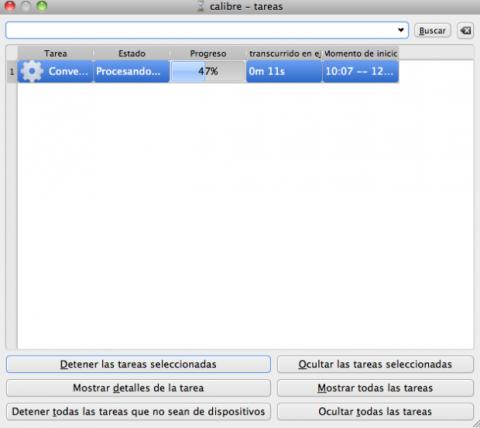 Tareas Calibre: el proceso de conversión de un eBook