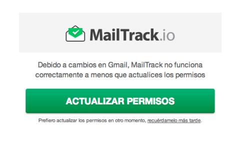 MailTrack permisos